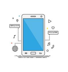 smartphone lines design smartphone vector image vector image