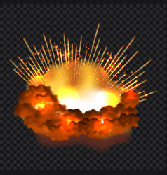 Splash explosion concept background realistic vector