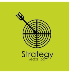 strategy isolated icon design vector image vector image
