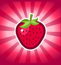 strawberry icon design vector image vector image