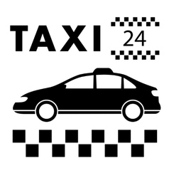 taxi signboard around the clock services vector image vector image