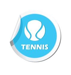 Tennis blue label vector