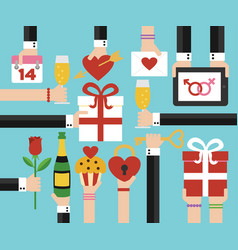 Valentines day holiday flat design vector