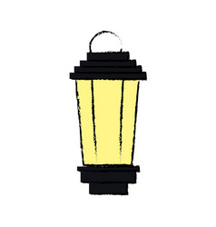Vintage street lantern lamp light design vector