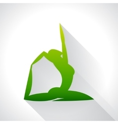 Yoga emblem of abstract stylized person Sport vector image