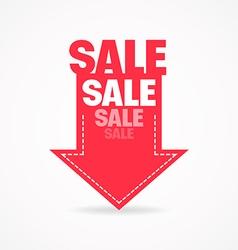 Arrow sale vector image