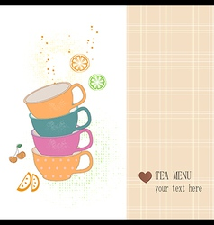 Tea menu vector