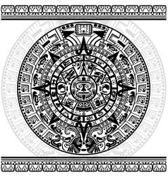 Mayan calendar vector image