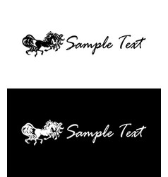 Horse silhouette corporate style emblem business vector