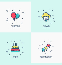 Organization of birthday party and event vector
