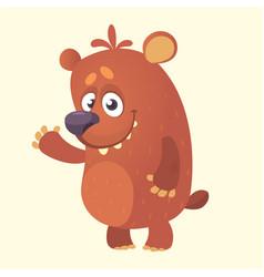 Cute cartoon bear character vector