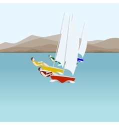 Sail sport vector
