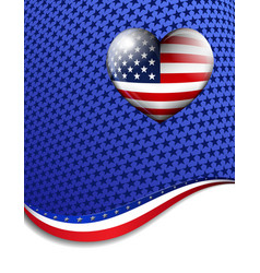 Stars stripes heart background vector