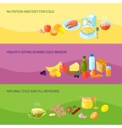 Healthy food banner set vector