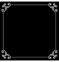 Retro silent movie calligraphic frame on black vector