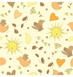 Spring doodles set vector