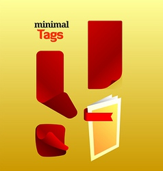 Mini tags vector
