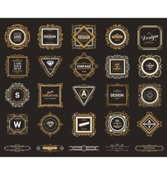 Monogram luxury logo template vector