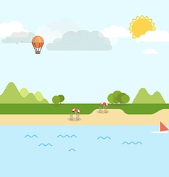 Summer seaside vacation vector image