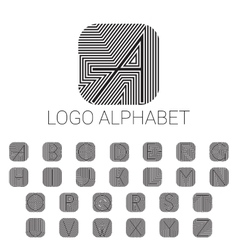 Alphabet brand letters as logo vector