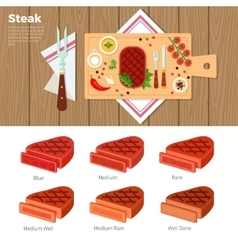 Tasty steak served on the table vector