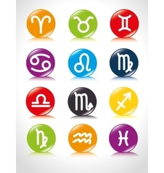Astrological signs of the zodiac vector