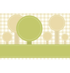abstract sewed stripes and rounds vector image vector image