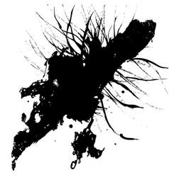 abstract splatter black color background design vector image vector image