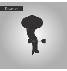 black and white style icon disaster tornado vector image