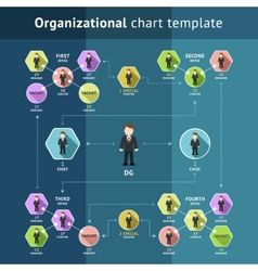 Business organization structure vector image vector image