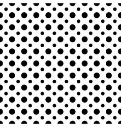 Circle black seamless pattern vector image vector image