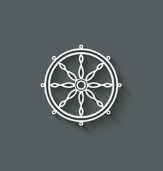 Dharma wheel design element vector