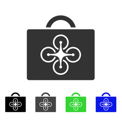 Drone case flat icon vector