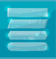 Glass technology border collection set vector