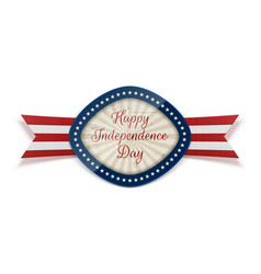 happy independence day realistic greeting banner vector image vector image