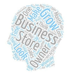 Make your business grow text background wordcloud vector