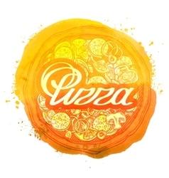 Pizza logo design template pizzeria or vector