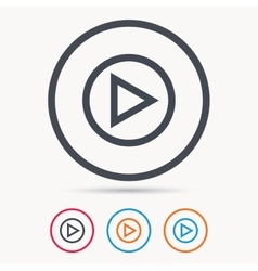 Play icon Audio or Video player sign vector image vector image