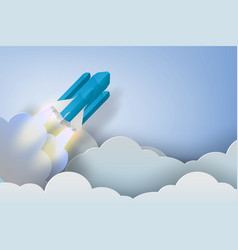 Rocket start up dollar bussiness concept vector