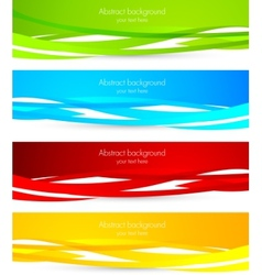 Set of colourful banners vector image vector image