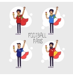 Set of the international fans of national football vector image vector image