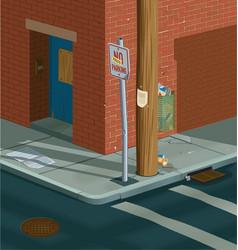 street corner vector image vector image