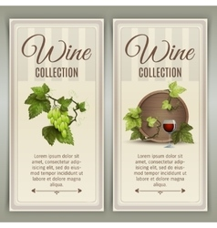 Wine vertical banners set vector image vector image