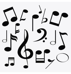 music note sound media festival icon vector image