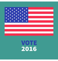 President election day 2016 voting concept big vector