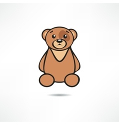 Crying bear vector
