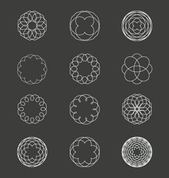 Spiral patterns vector