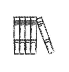 books read encyclopedia learn sketch vector image