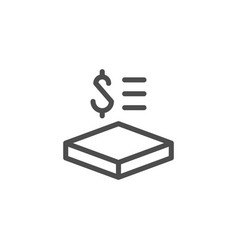 price per square meter line icon vector image