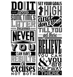 Set of retro vintage motivational quotes vector